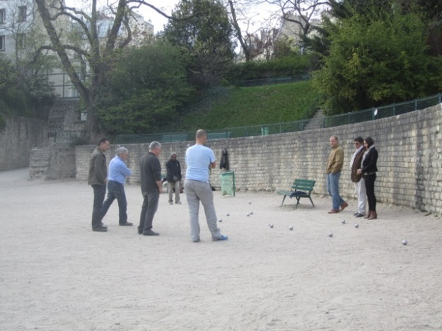 A game of pétanque at the former Roman arena.