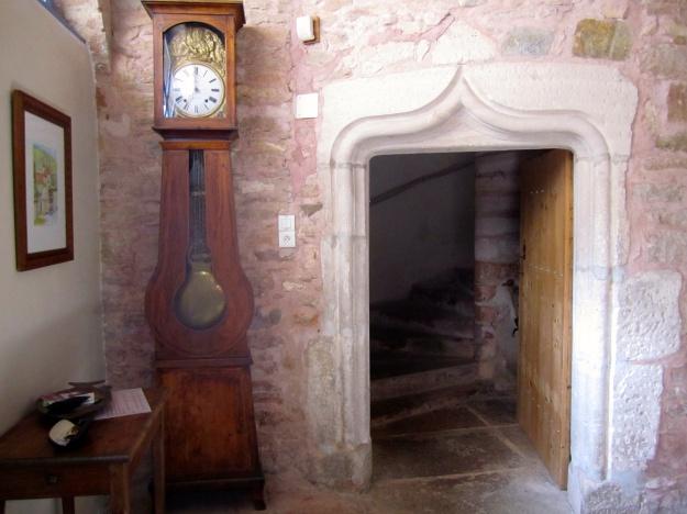 Renaissance entry to stone staircase.