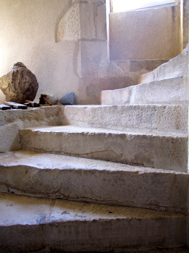 700-year-old stone staircase.
