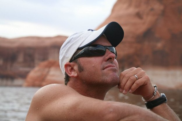 David at Lake Powell, Utah.