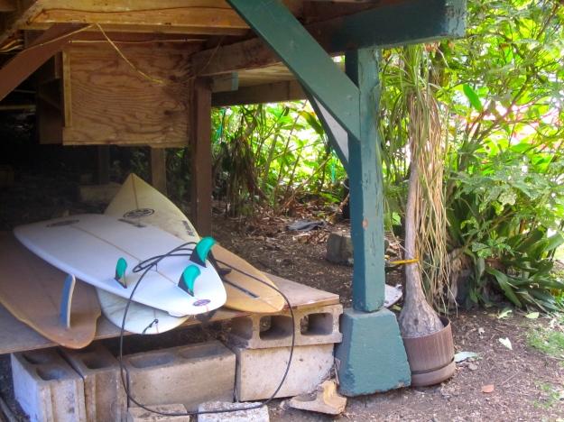 Under the cottage.