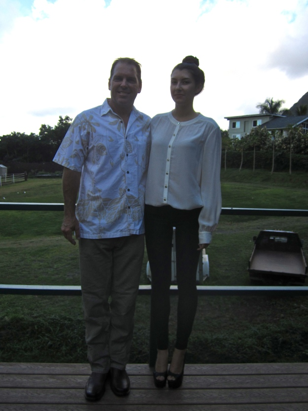 Taylor and her Papa.