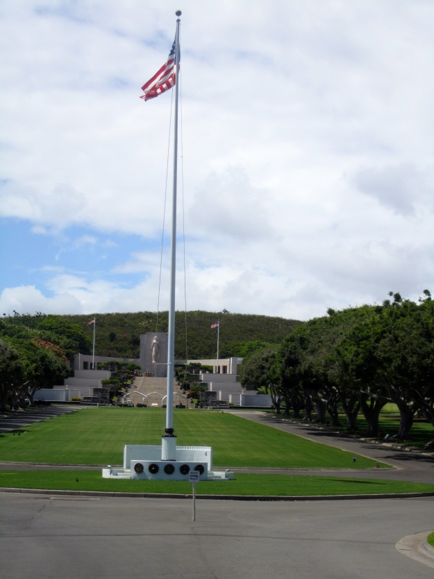 View at entry of Punchbowl National Cemetery